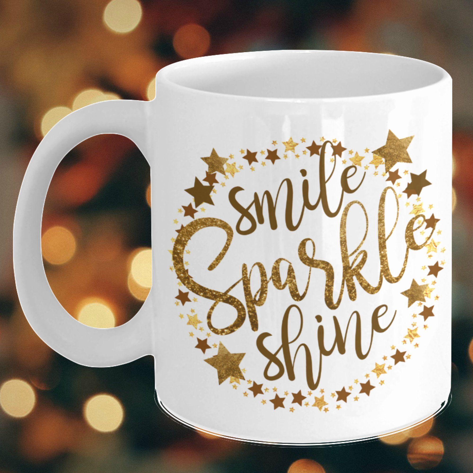 Get 20 Off Today Glitter Lover Coffee Mug Smile Sparkle Shine