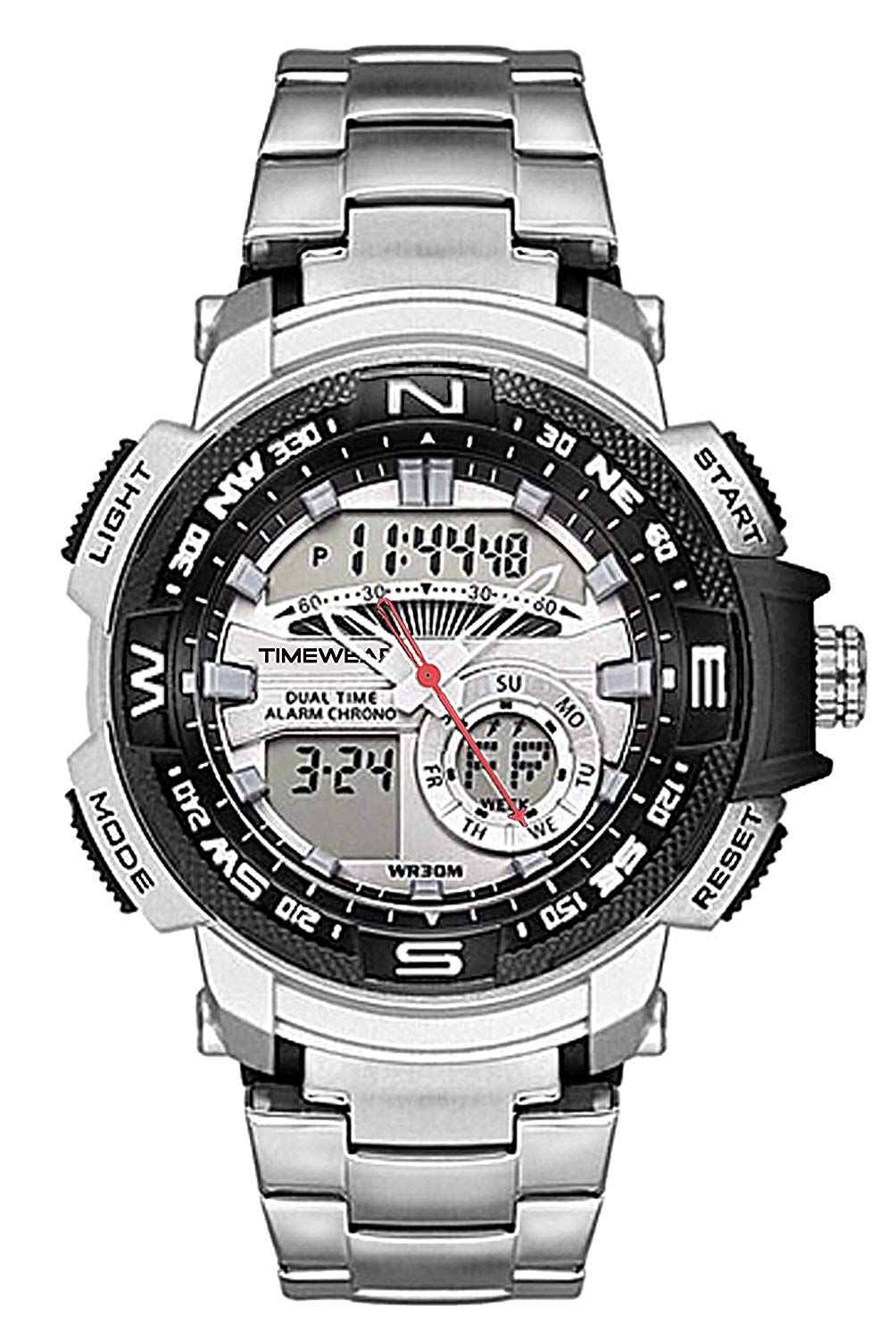 Buy TIMEWEAR Analogue Digital Sports Stainless Steel Chain
