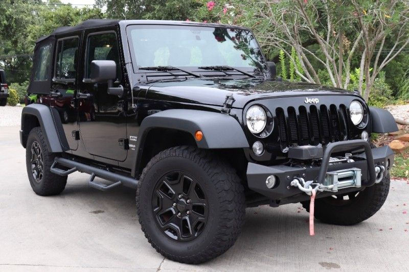 2015 Black Jeep Wrangler Unlimited Sport 29995 (With