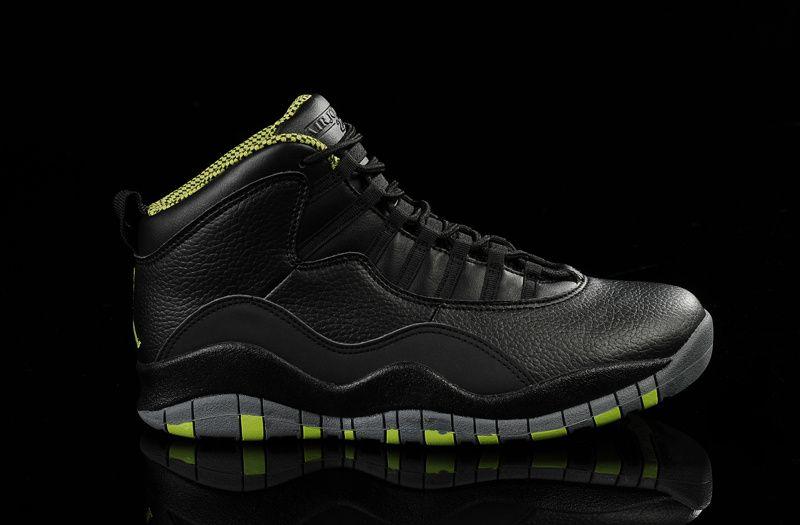 Real Original Nike Air Jordan X Venom Green Men Basketball Shoes