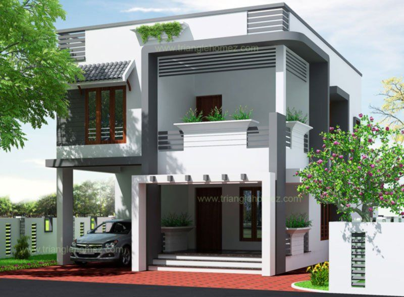 Small house model in chennai also ways to make an empty wall more attractive triangle homez rh pinterest