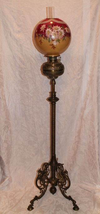 Wonderful Antique Figural Brass Piano Floor Lamp ~ Outstanding ...