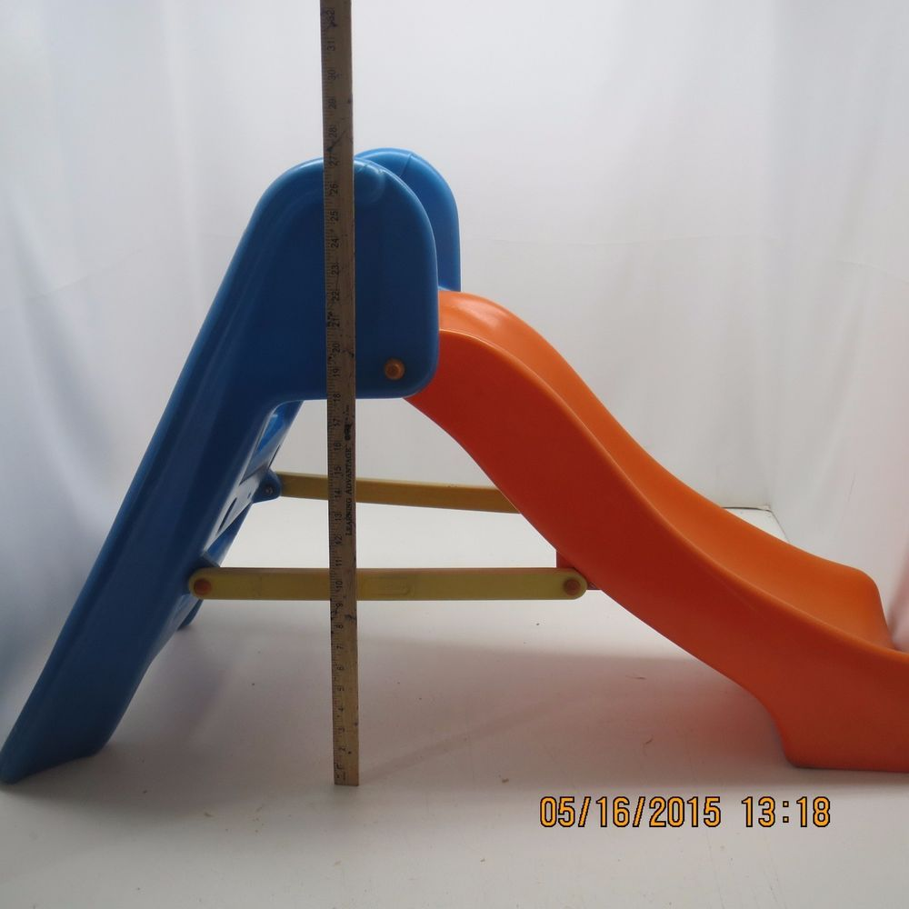 Little Tikes Orange Slides : Vintage little tikes child size playground slide orange