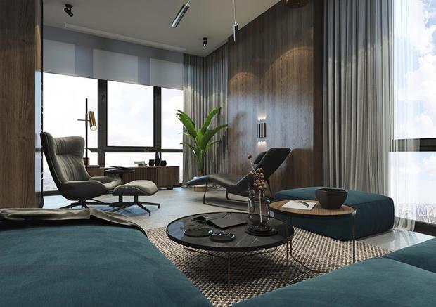 Холостяцкая квартира от дизайн-студии Mdesign Architecture Interior
