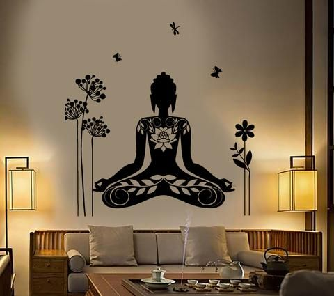 Buddha Yoga Meditation Wall Decals Wall Art