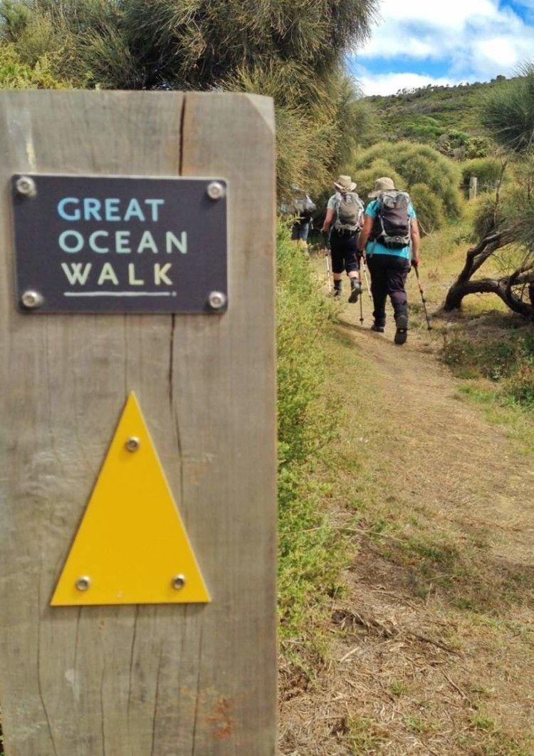 The Twelve Apostles Lodge Walk follows the last half of the Great Ocean Walk The Twelve Apostles Lodge Walk follows the last half of the Great Ocean Walk