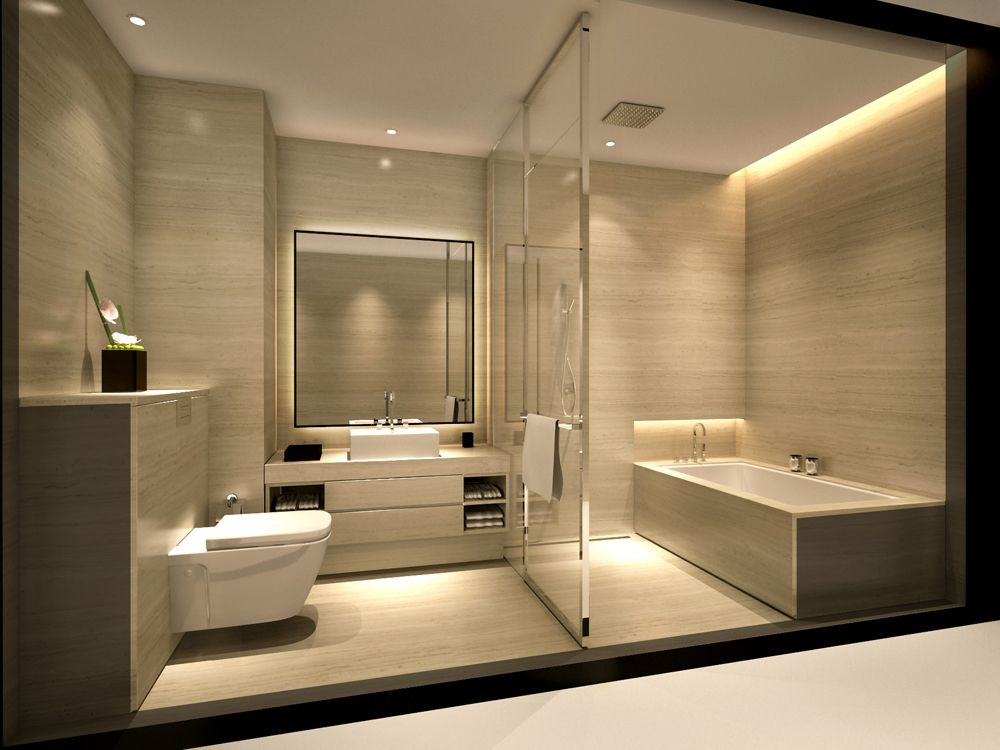 guest toilet with spa bathroom not part of main bedroom service apartment_armani_bathroomjpg - Hotel Bathroom Design
