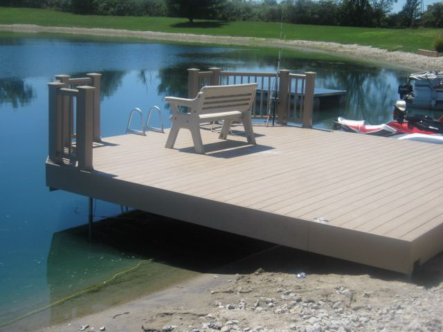 This Unique Pond Deck Also Serves As A Dock For This Ft Wayne