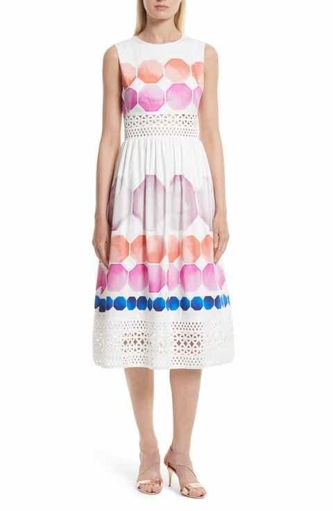 Ted Baker London Serinah Stretch Cotton Midi Dress | MÓDA / FASHION ...