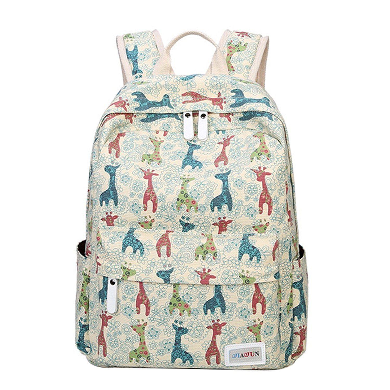 moonwind giraffe school backpack for girls teen book bag women