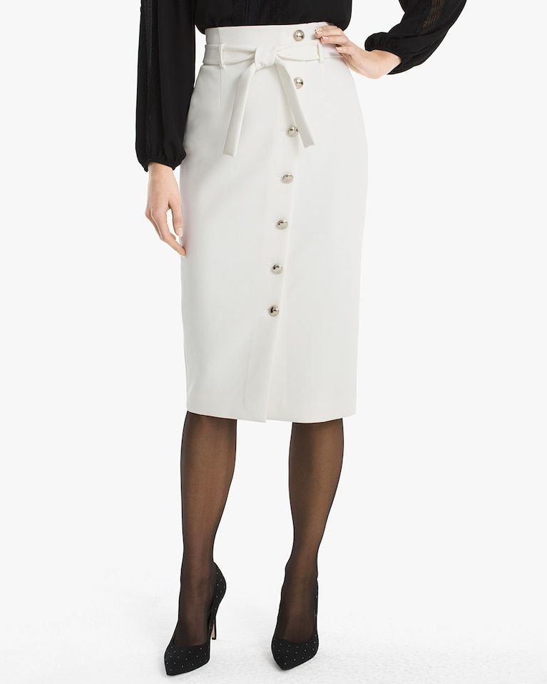 80bc6195af Women's Asymmetrical Button-Front Pencil Skirt by WHBM | Products ...