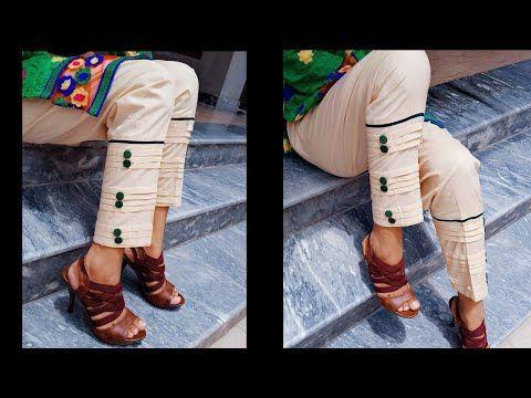 4e8b6fff4a7b3 Stylish capri bottom design cutting and stitching - YouTube ...