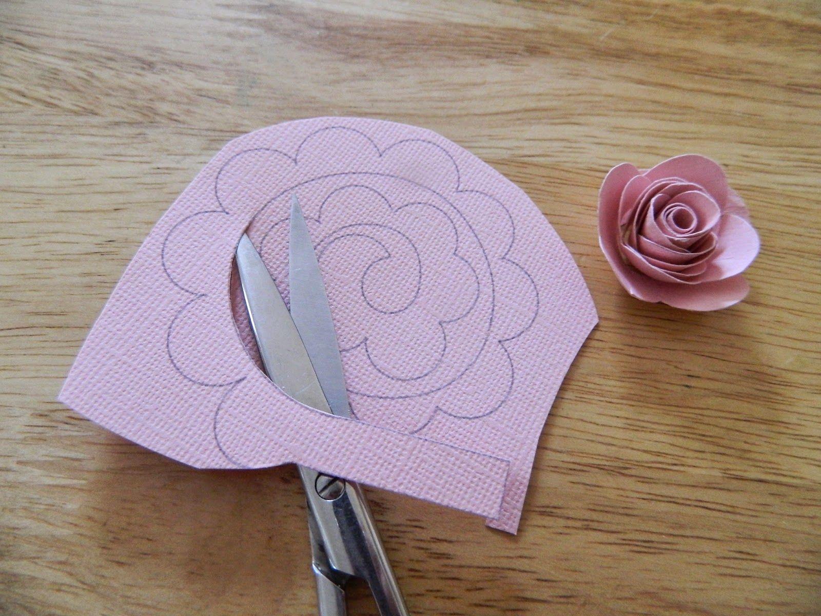 Днем варенья, роза из бумаги своими руками на открытку