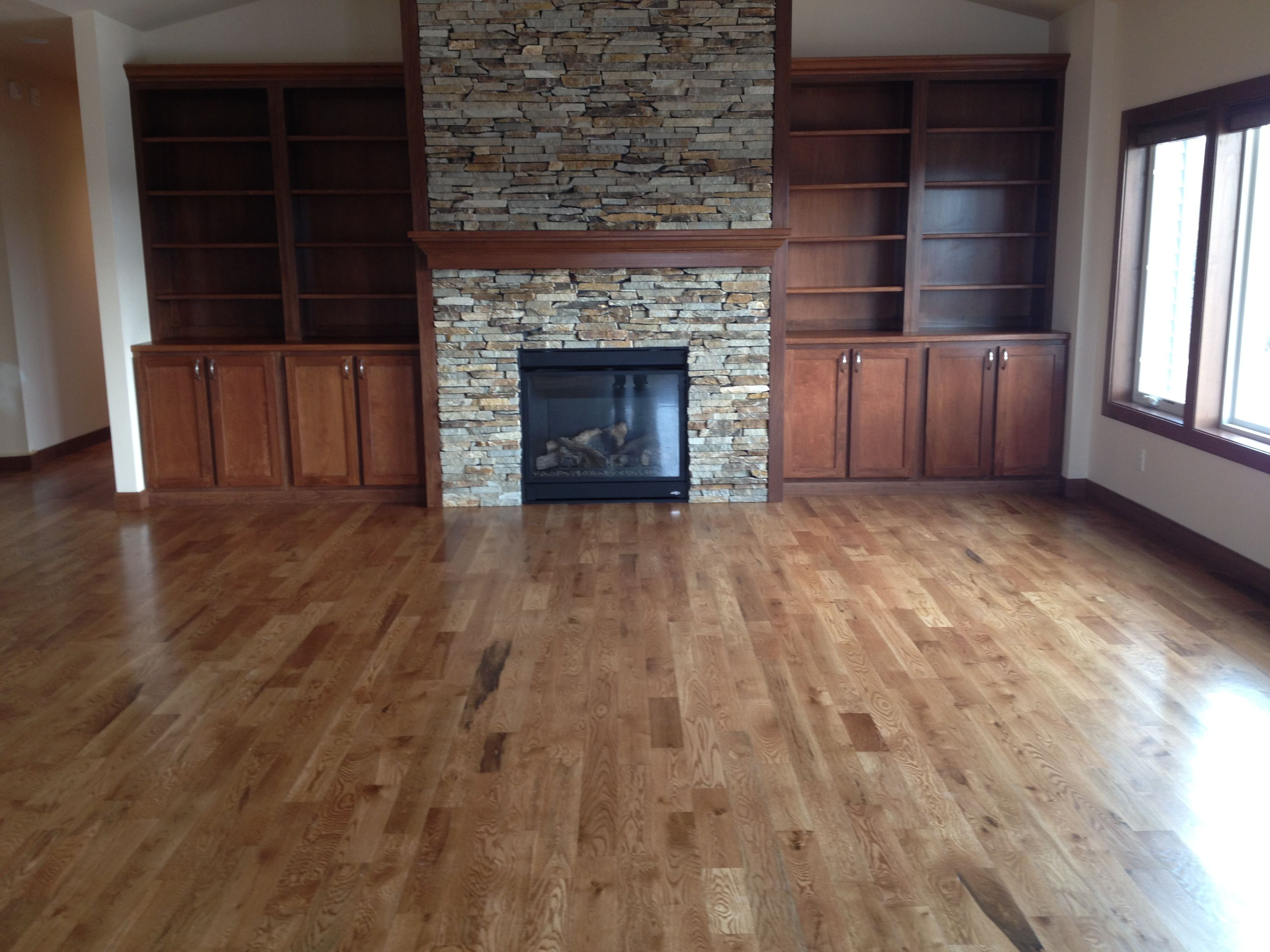 Flooring eclectic hardwood flooring boston by paris ceramics - Gerard Homes Stained Red Oak Hardwood Flooring