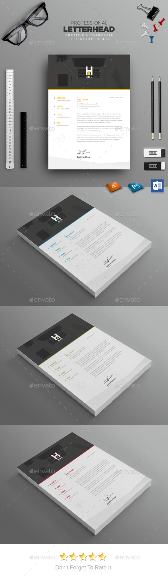 business letter format microsoft word%0A Letterhead Template PSD  Vector EPS  MS Word