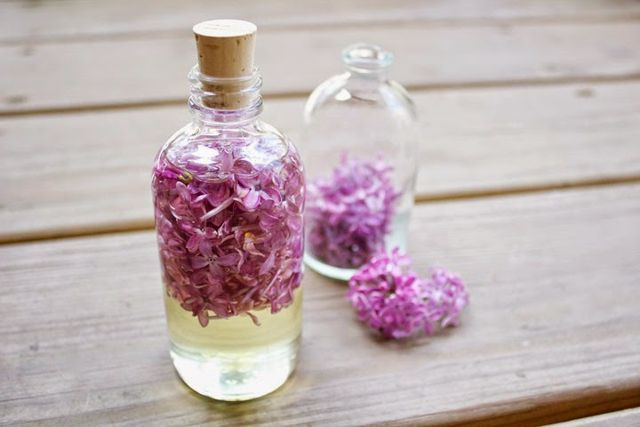 Every spring when our lilac tree blooms, I make sure to go outside daily and pick as many bundles as I can to put all around our home. The scent is known for it's calming/rejuvenating effect, so afte