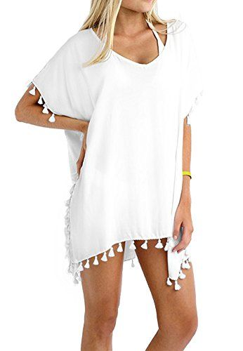 12c581ffa5 Women's Swimwear Cover Ups - Taydey Womens Stylish Chiffon Tassel Beachwear  Bikini Swimsuit Cover up ** Click on the image for additional details.
