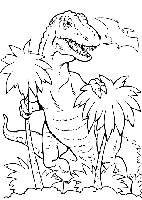 Pin Auf Dinosaurier Ausmalbilder
