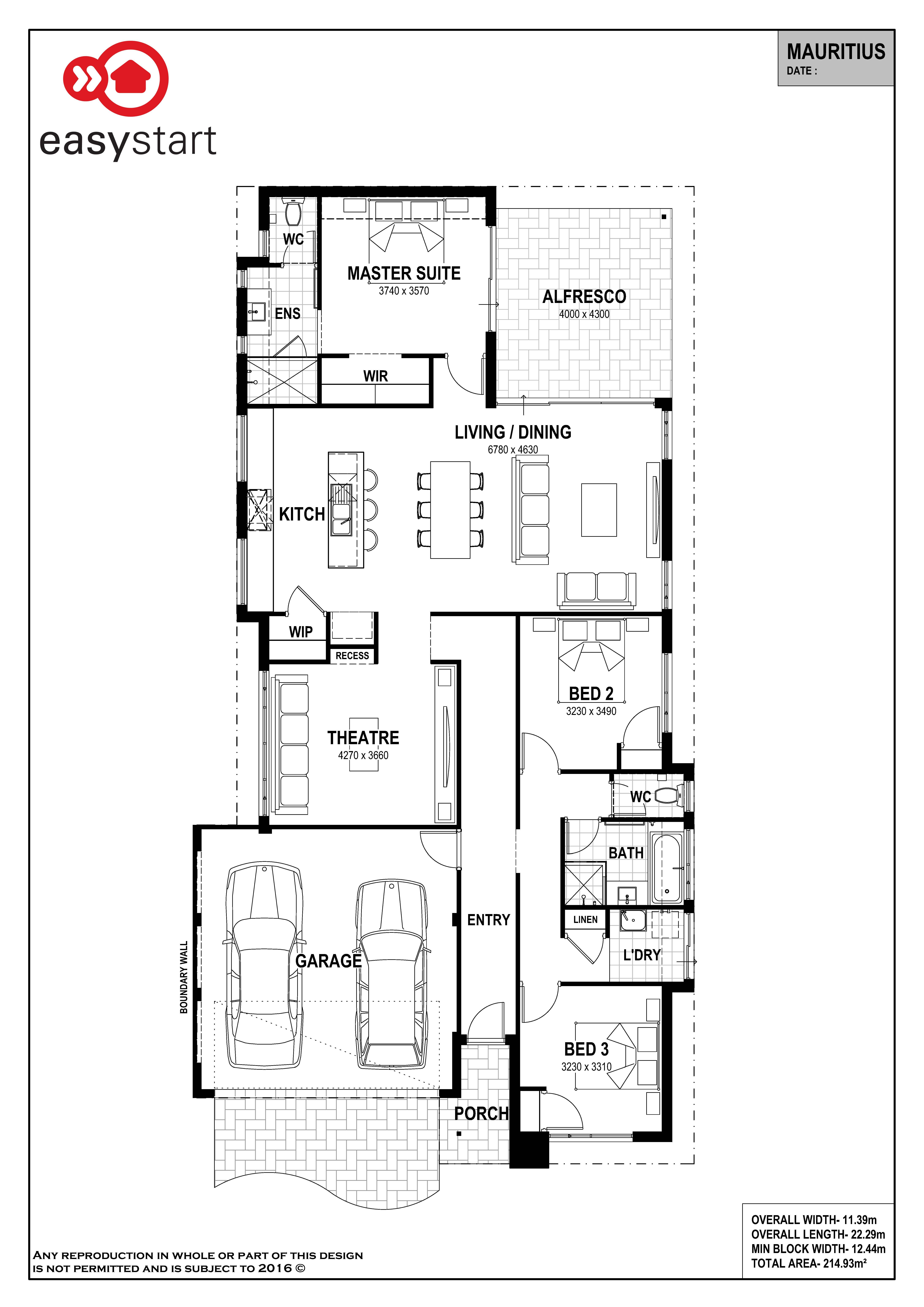 Mauritius | Easystart Home Designs Perth | 2017 House Plans ...