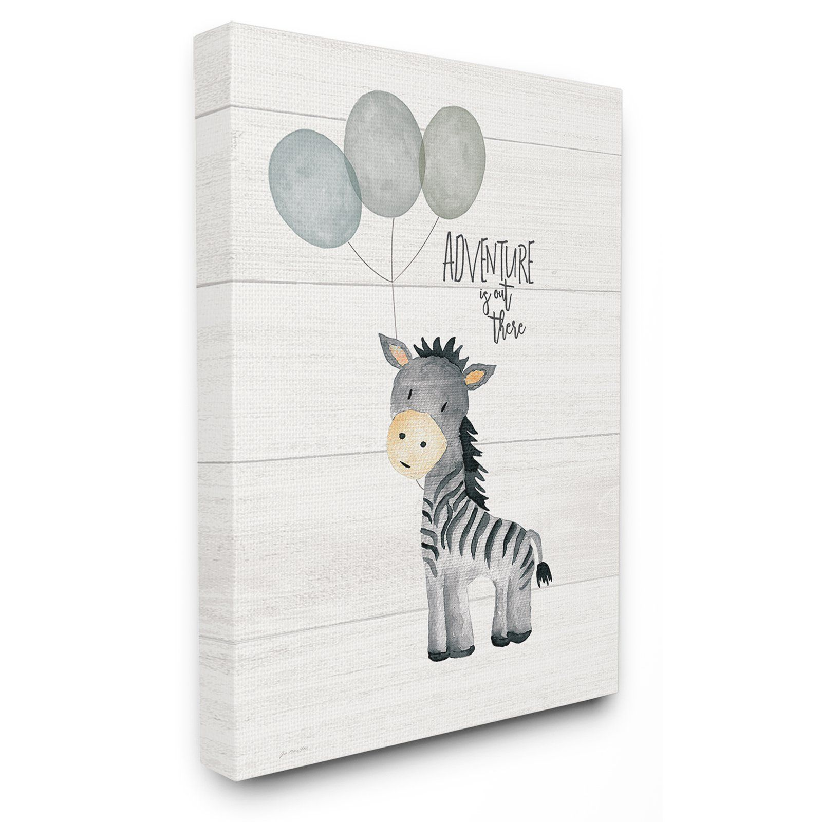 The Stupell Home Decor Collection The Kids Room By Stupell Adventure Is Out There Zebra Wall Art Stretched Canvas Zebra Canvas Art Zebra Canvas