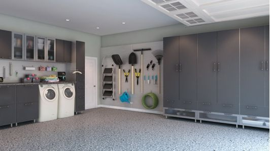 Garage Storage Brushed Aluminum Home And Garden Design Ideas