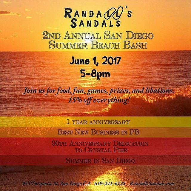 Food Fun Slipper Sandals Pacific Beach La Jolla Prizes Stress Free Calendar Thankful