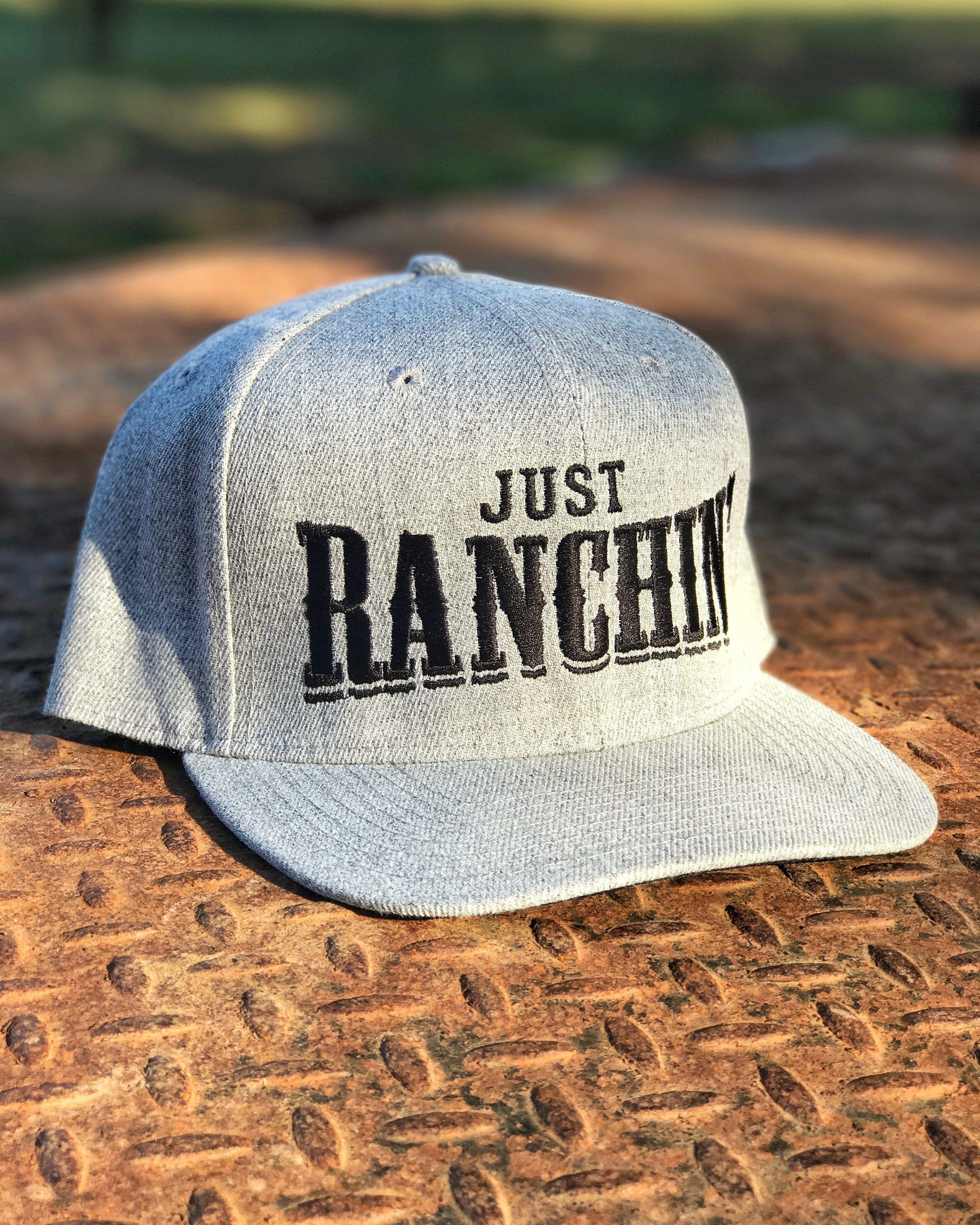 0dafc055da62 Just Ranchin Heather Grey Snapback Cowgirl Hats