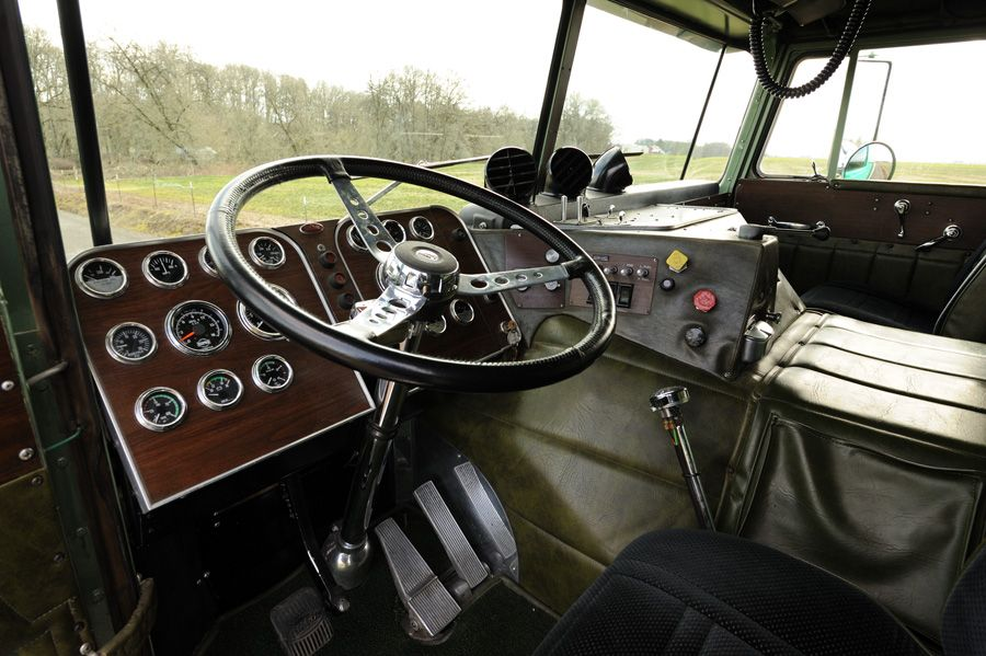 the interior of a peterbilt 352 cabover cabover trucks