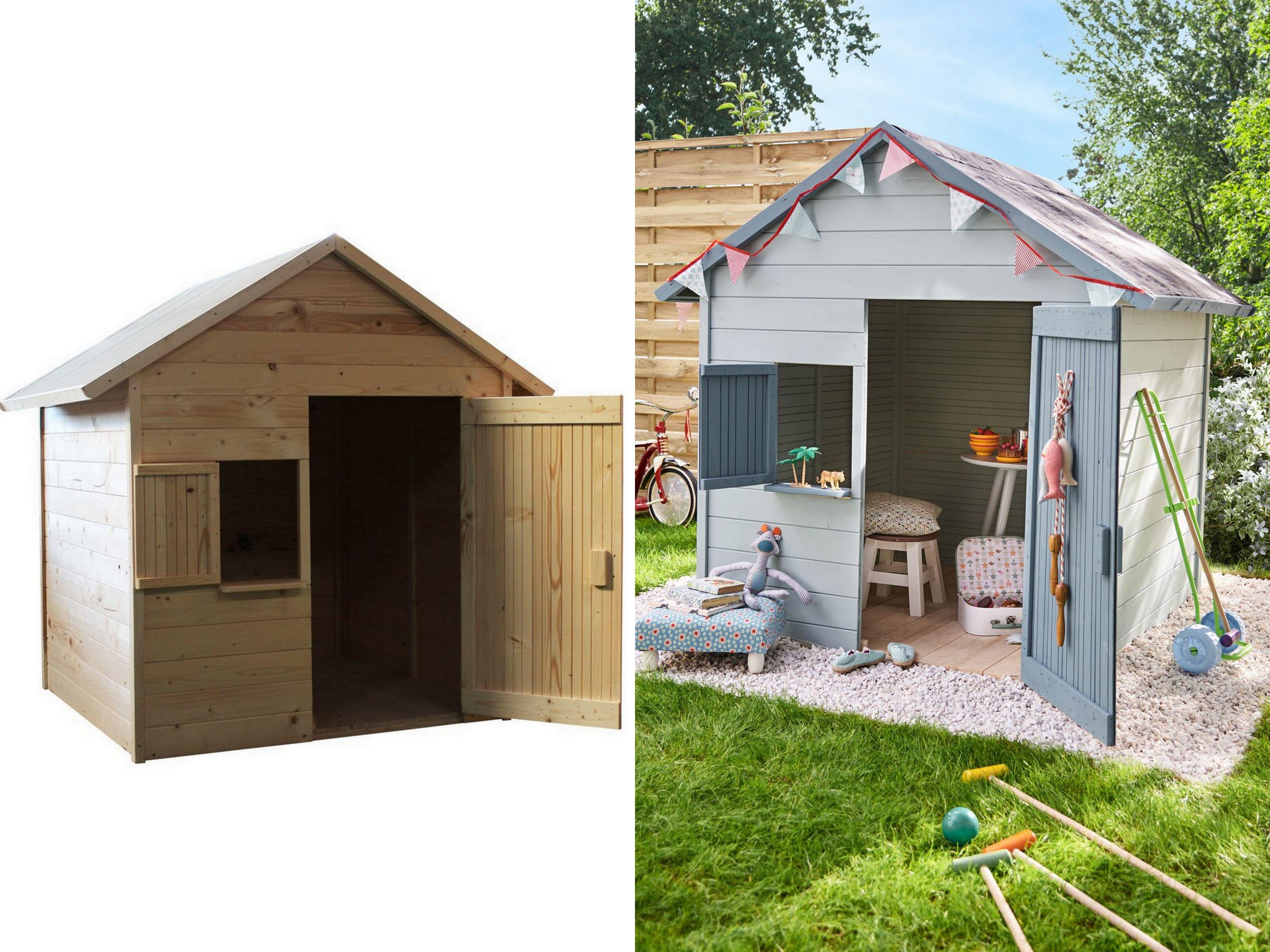 Grande Cabane De Jardin Pas Cher une cabane en bois pour enfant à prix doux | abri de jardin