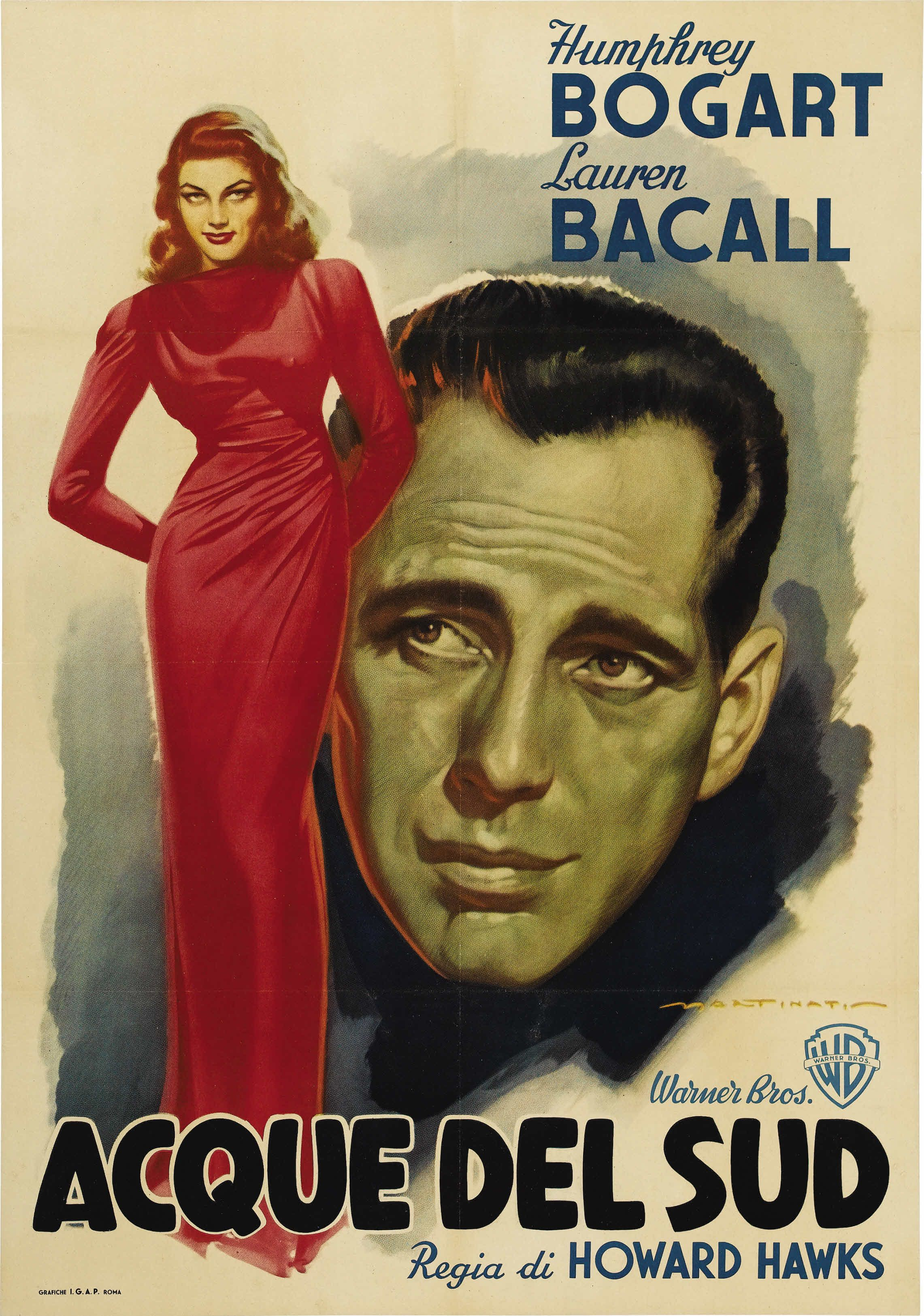 To Have and To Have Not (Howard Hawks, 1944) Italian foglio design by Luigi Martinati