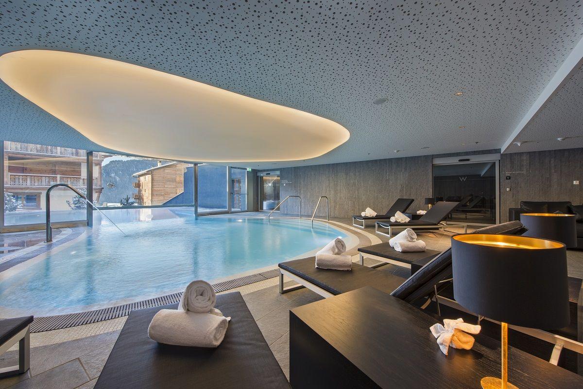 W Verbier Switzerland The First Alpine Retreat Indoor Pool Home Indoor Swimming Pools