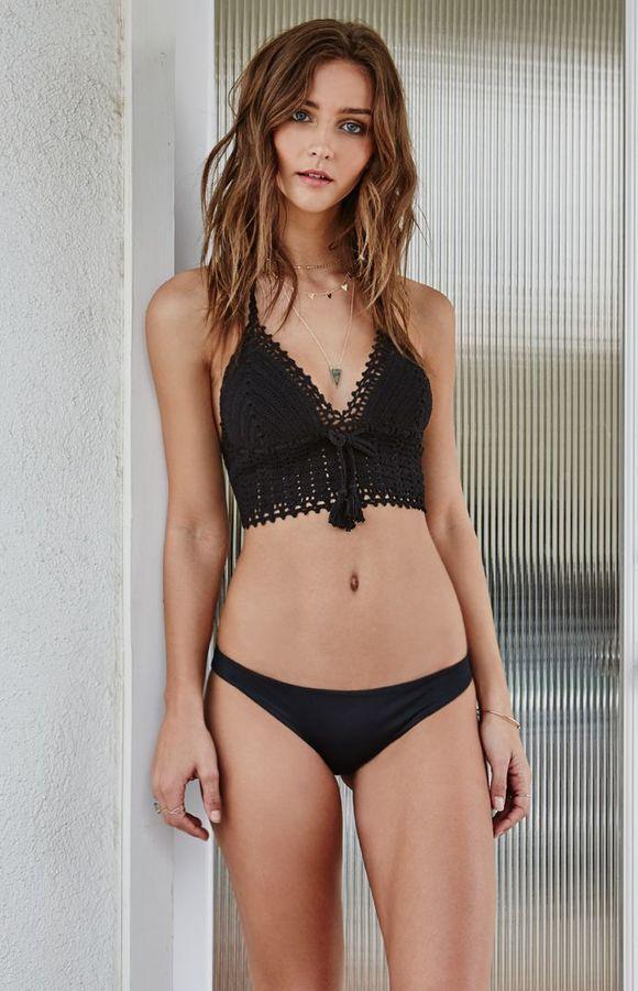 756ff2b4e2 Kendall & Kylie Crochet Tie Back Cropped Bikini Top | SUIT UP ...