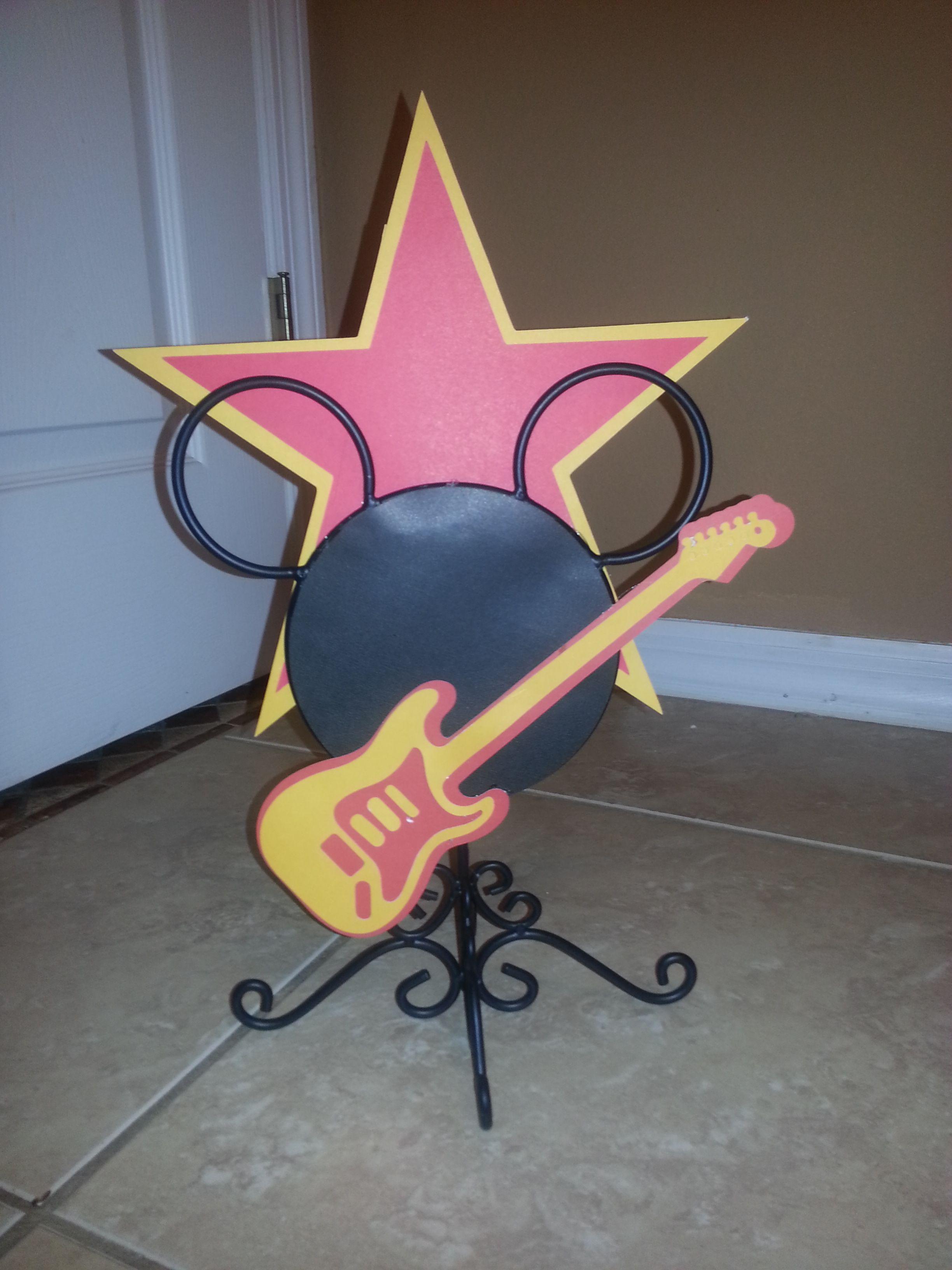 Mickey rockstar centerpiece   Rockstar birthday, Novelty
