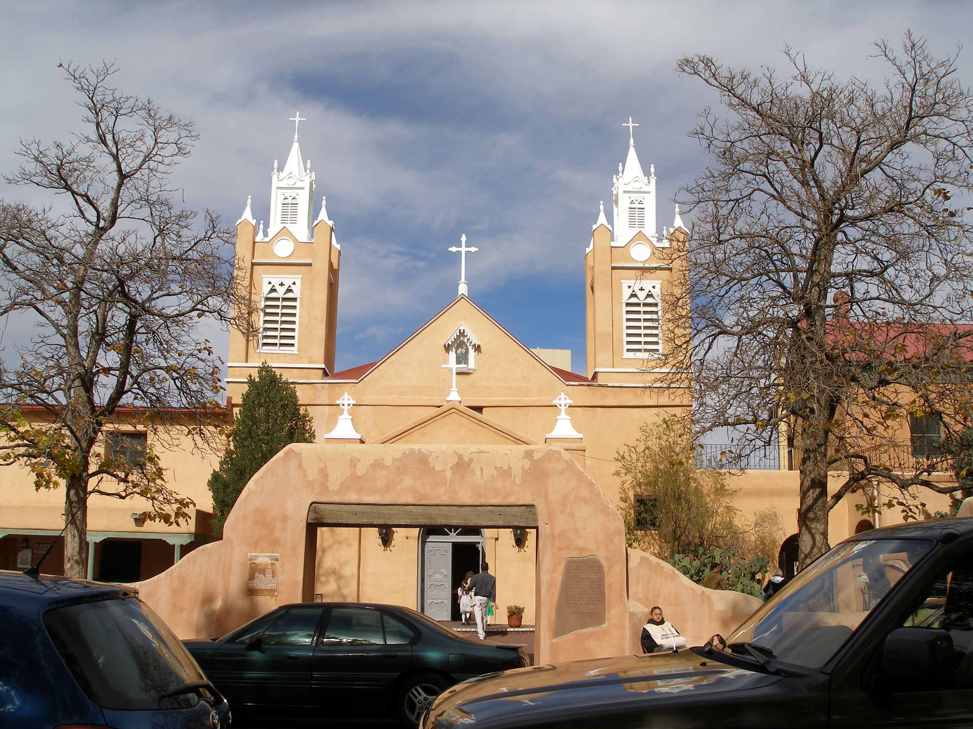 The Historic Old Town Church in Old Town Albuquerque. You