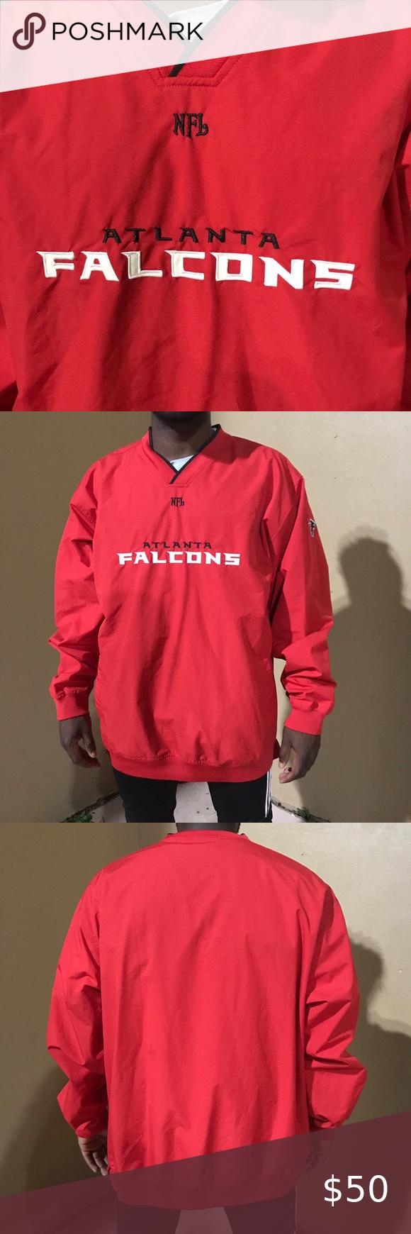 Vintage Nfl Reebok Atlanta Falcons Pullover Clothes Design Pullover Fashion Design [ 1740 x 580 Pixel ]