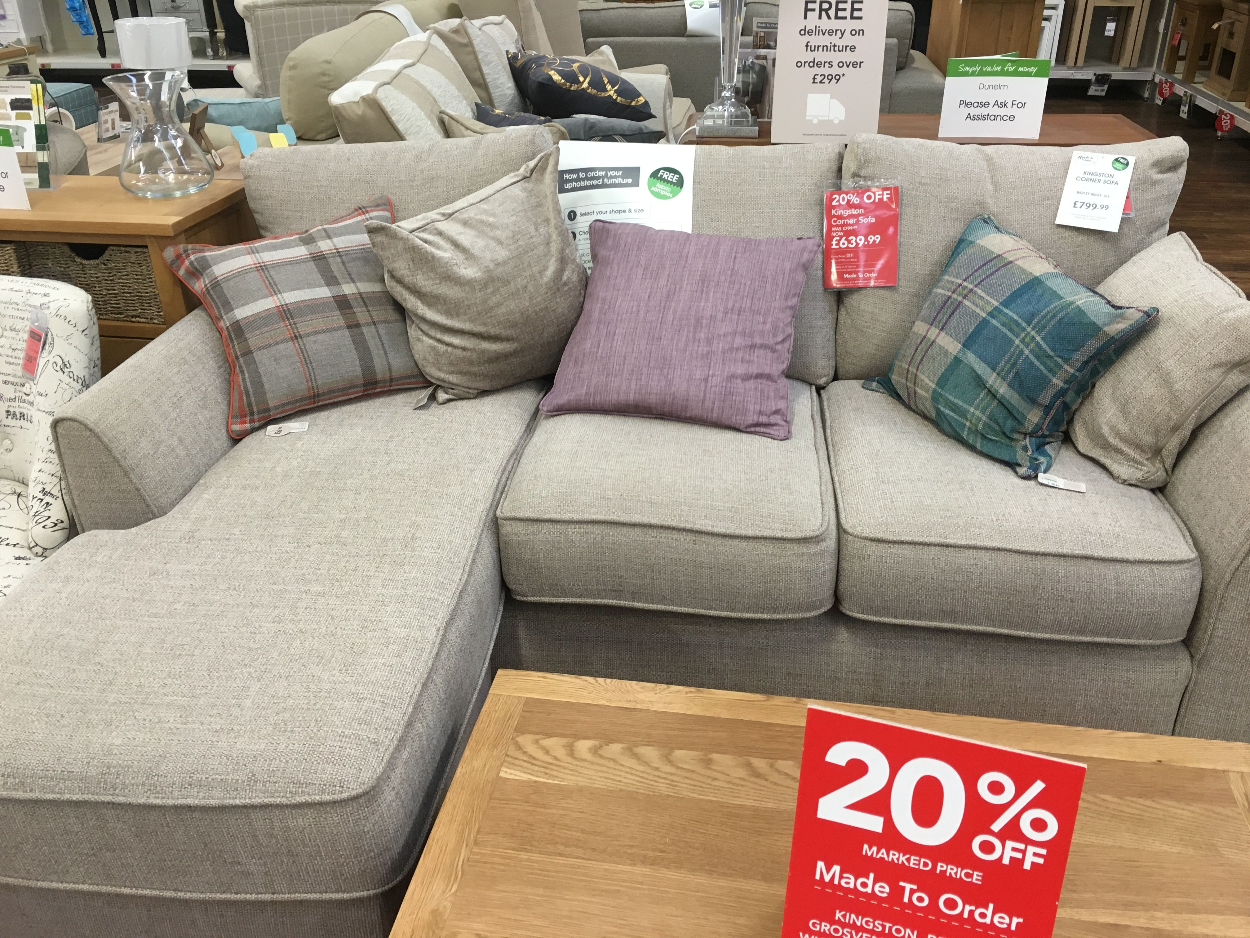 Corner sofa from Dunelm For the Home