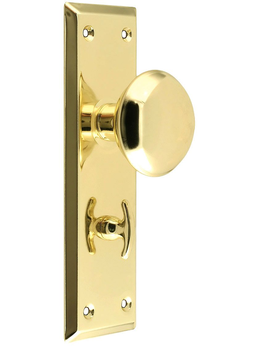 Brass Plated Privacy Mortise Lock Set Mortise Lock Antique Hardware Hardware