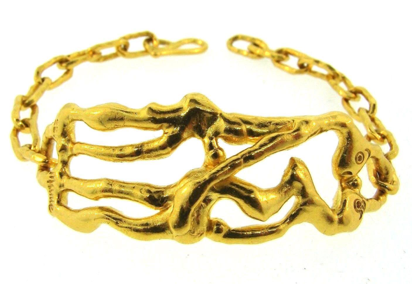 Jean Mahie 22K Yellow Gold Open-Pear Pendant wBaofJJao