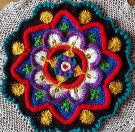 Lindevrouwsweb Mandala Madness Cal 2016 Deel 3 Hekel Mandalas