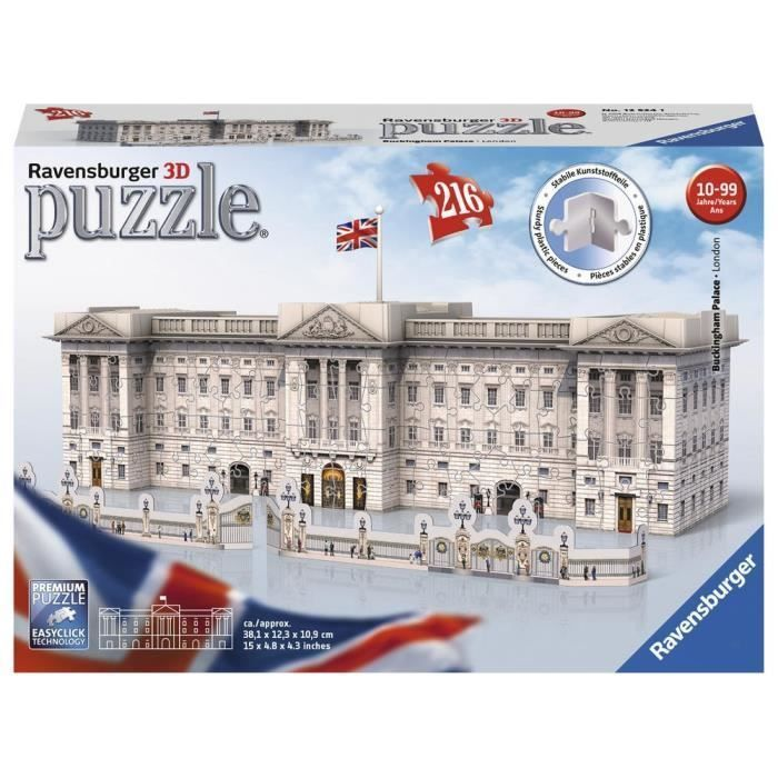 RAVENSBURGER Puzzle 3D Buckingham Palace 216 pcs RAVENSBURGER Puzzle 3D Buckingham Palace 216 pcs