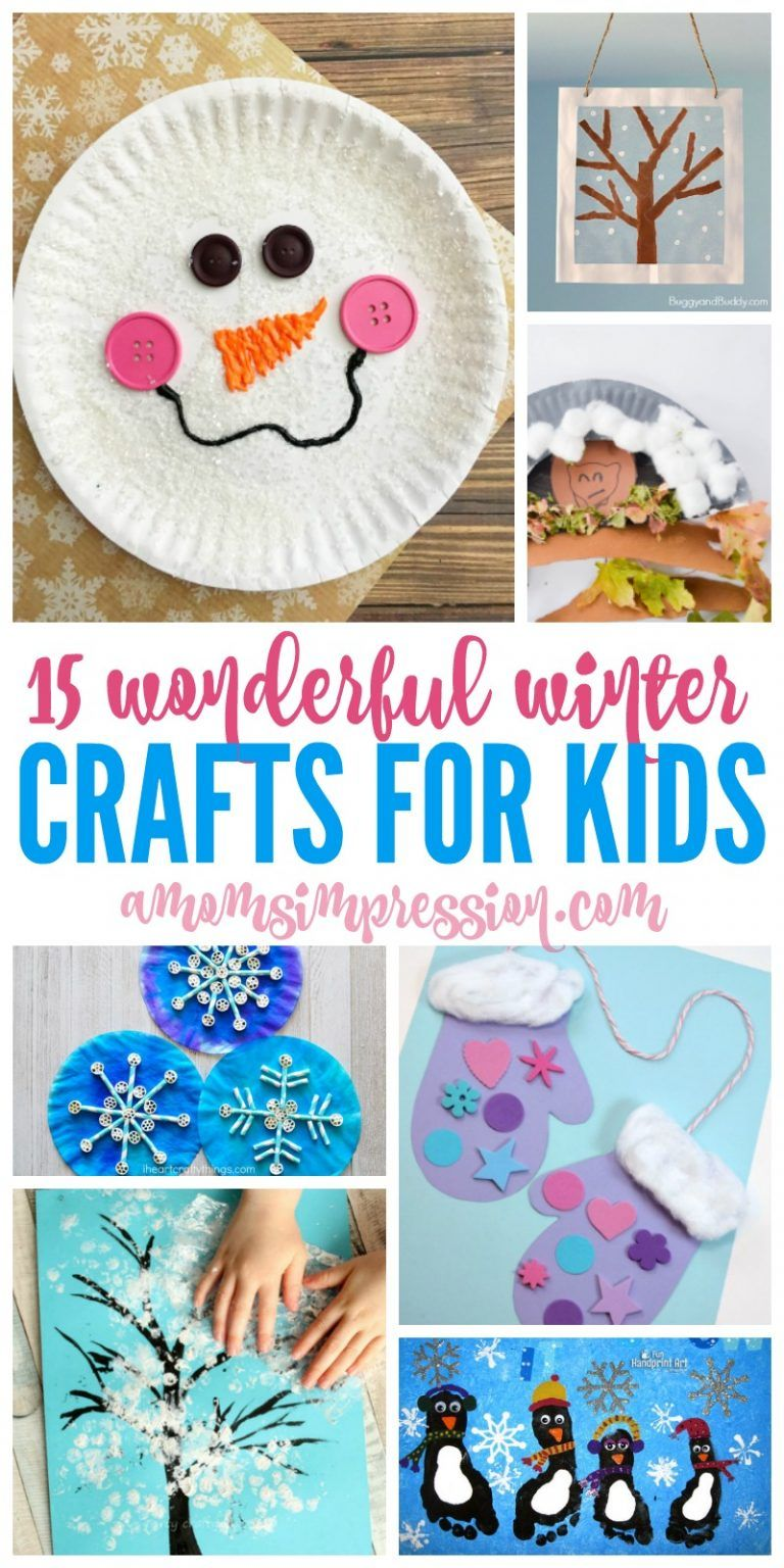 These Winter Kids Activities Include Fun Craft Projects For Both