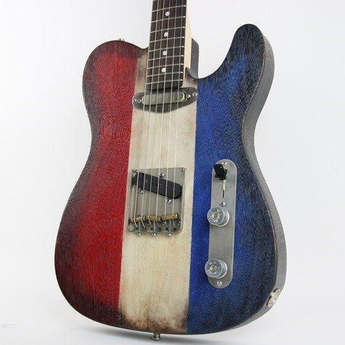 2018 T&T Custom Guitars 'Buck Fever' Telecaster Red, White