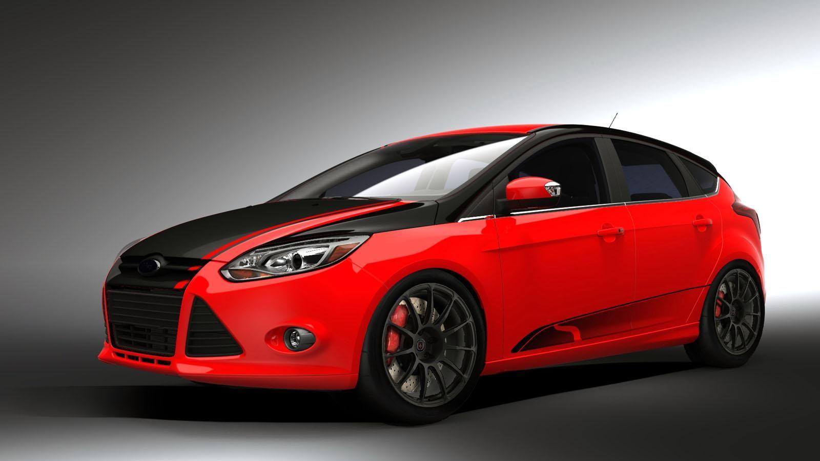 Modif Ford Focus Merah Dengan Gambar Mobil Merah