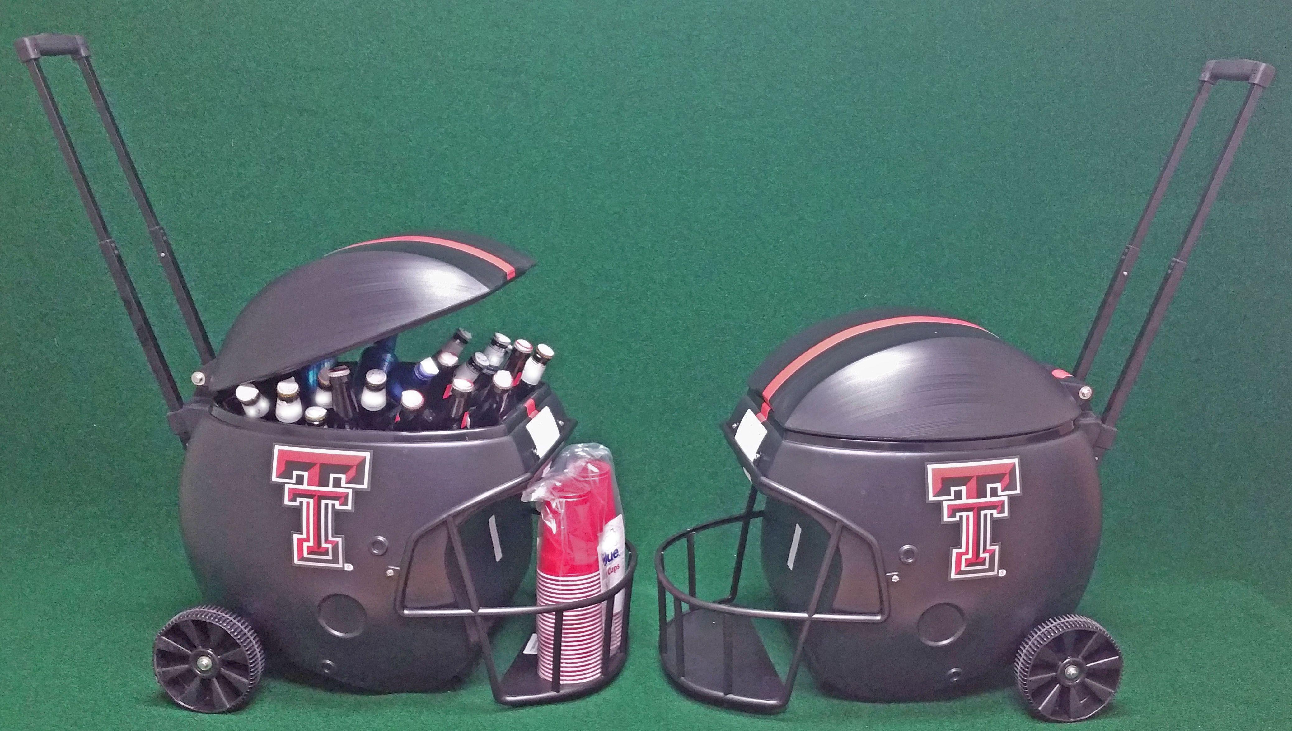 Texas Tech Red Raiders, 40 Quart Football Helmet Ice Chest