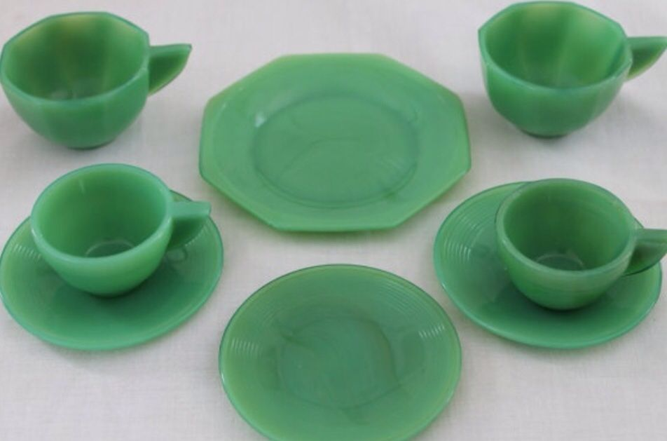 Akro Agate Toy Dishes Childrens Dishes Kids Tea Set Childrens Tea Sets