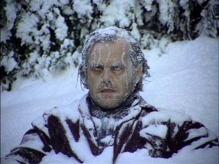 Image result for jack nicholson freezing