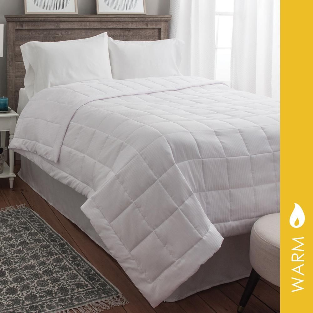 White Goose Down Alternative Blanket Super Oversized Hypoallergenic Plush Comfort Blanket How To Make Bed Comforters Cozy