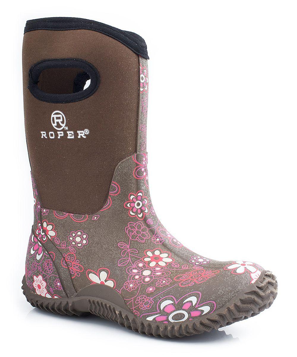 Purple Floral Barnyard Boot - Toddler & Kids | Boots, Kids ...