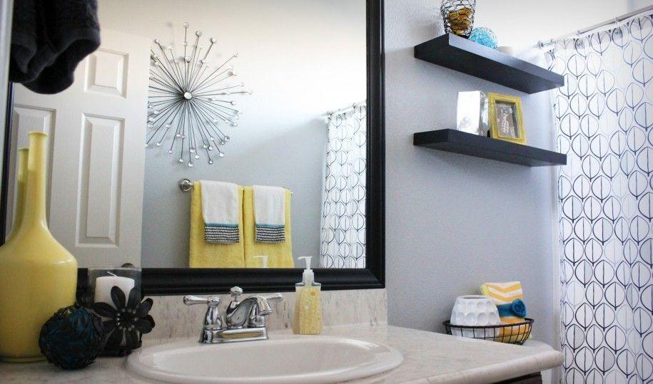 Yellow Bathroom Decor Gray, Teal And Yellow Bathroom Accessories