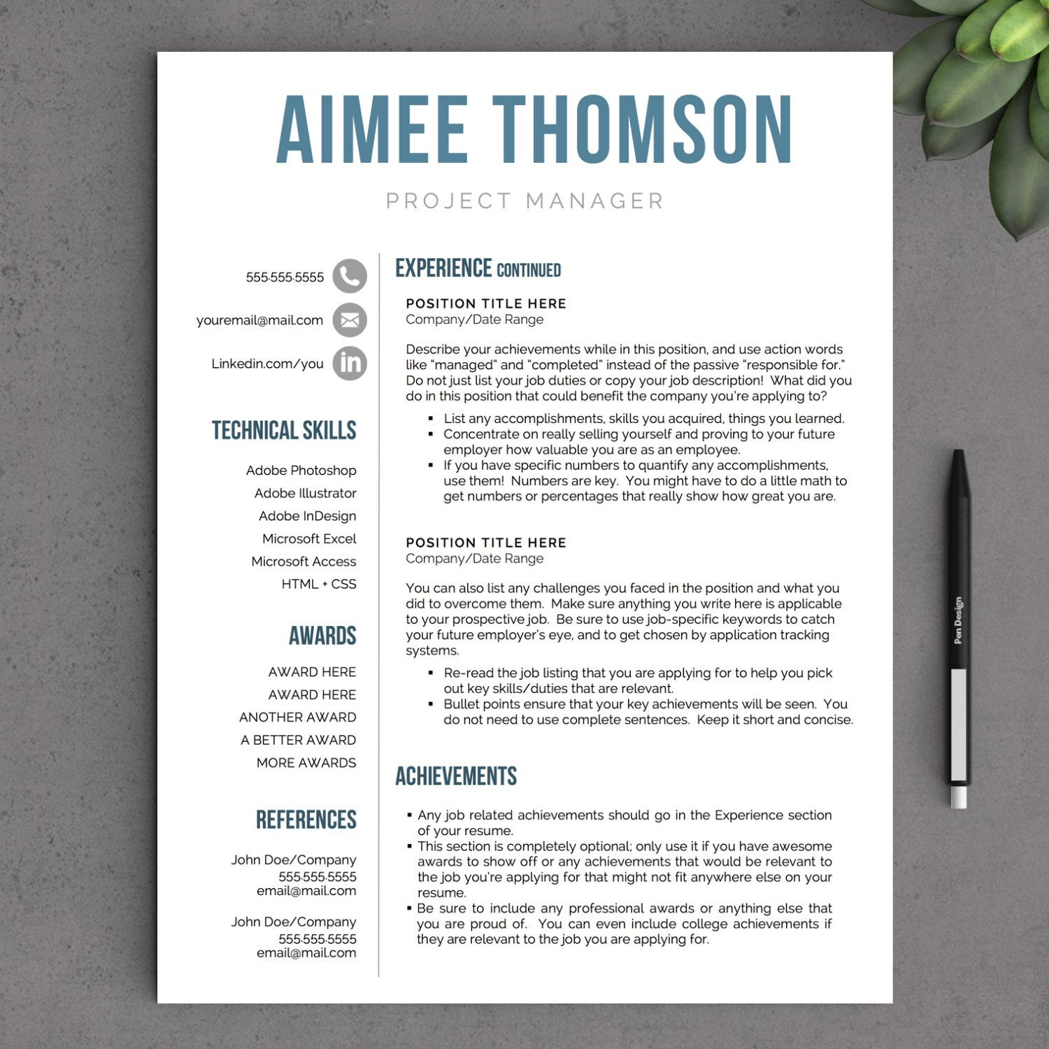 creative modern resume template for word us by format team leader operations primary school teacher cv sample pdf academic templates microsoft